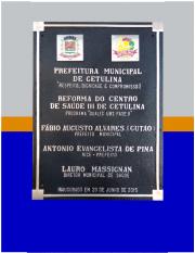 Placas Comemorativas